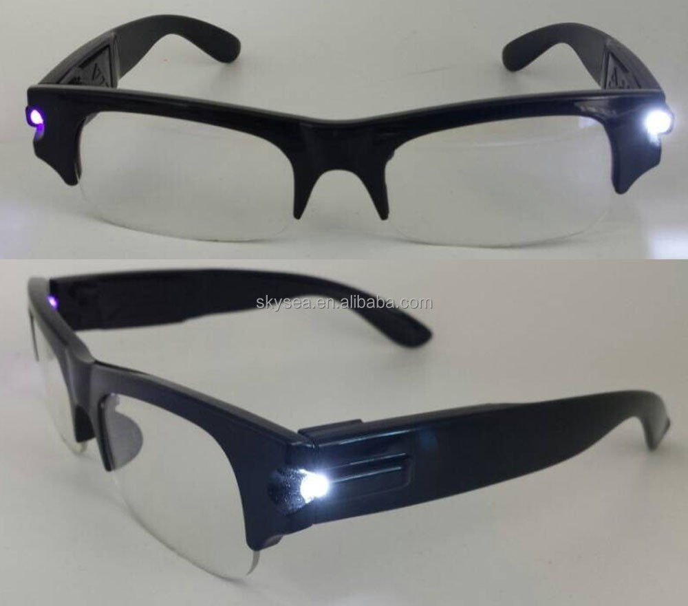 Glasses Frames With Lights : Fashionable Plastic Reading Glasses With Led Light,New ...