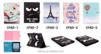 Cartoon Slim Printed Flip Leather Wallet Stand Case Smart Cover For Apple iPad 3