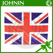 100%polyester 90*150cm OEM vinly top quality silk screen printing customed union jack red flag