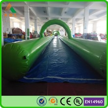 Popular giant inflatable water park, 1000ft slip n slide inflatable slide the city