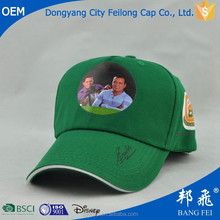 heat transfer printing promotional cap with contrasting sandwich for election