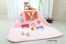 2015 OTSU KEORI 100% polyester super soft cute baby blanket