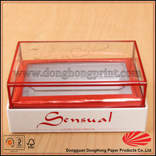 Hot Solid Perfume Packing Cardboard Box PVC Lid