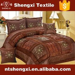 fashion design bedding set 3d wholesale comforter sets embroidered patchwork bed set duvet cover