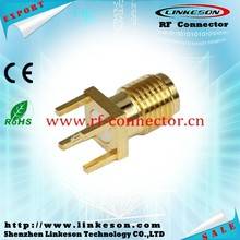 SMA female RF connector for PCB mount