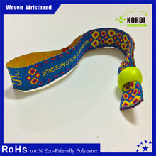 Customized Logo Cheap Festival custom nylon wristbands