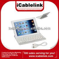 Newest bluetooth keyboard aluminum wireless bluetooth keyboard for iPad2/iPad3 bluetooth keyboard