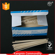 6 inch disposable wooden applicator stick