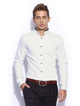 white plain and smart mens formal shirts
