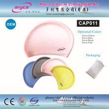 OEM High quality logo printed custom Fashion silicone swim caps