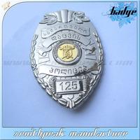 2014 custom made polica badges/polics metal badge/badge design polida