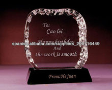 premio único cristal diseño
