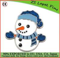 Custom high quality Christmas Snowman Holiday Brooch Lapel Pin