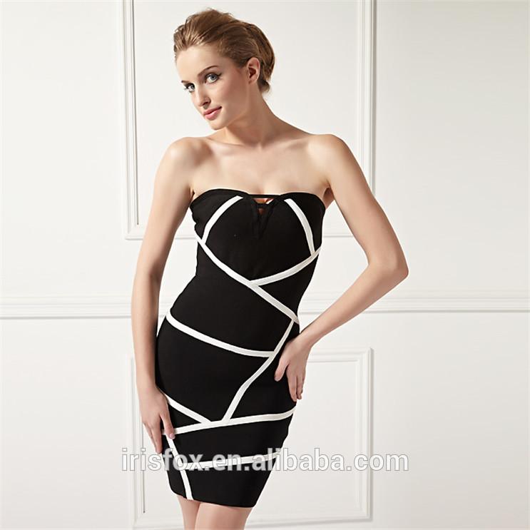 elegante vestido bandage mini sexo mulheres vestido de <span class=keywords><strong>festa</strong></span> preto