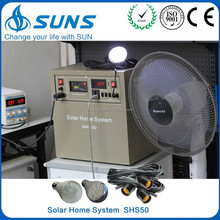 Complete 50W 60W 80W solar home lighting system,solar power for sale,solar system with DC12V TV and solar fan
