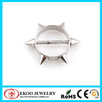 Round Nipple Ring Shield with Spikes and Cone Barbell Nipple Shield