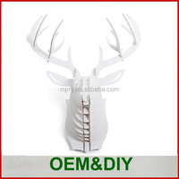 Alibaba Express China factory wholesale artificial modern animal white deer heads wall decor