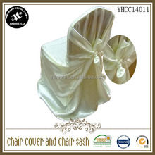 2014 Wholesale cheap satin univesal self tie wedding chair cover