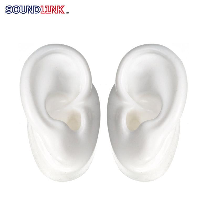 white silicon ear model