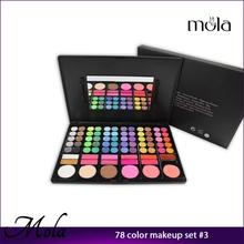 Professional hot sale 78 color makeup set wholesale