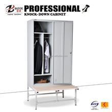 Modern furniture 2 doors steel locker for change room