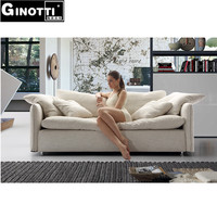 GPS1076 modern down feather fabric sofa for living room