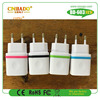 2015 New design colored ring thumb print 1.5A usb home adapter for iphone 6, android phone,tablet pc....