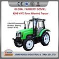 china 45hp 4wd baratos mini pequeña granja tractor de ruedas