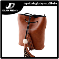 European bucket bags wholesale simple tassel shoulder bags for women 2015