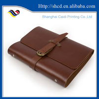 pocket size spiral soft cover leather notebook