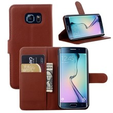 for Samsung Galaxy S6 edge Stand Flip Leather Case ,Premium Leather Wallet cover for S6 edge
