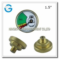 High quality 1.5 inch brass back connection propane cylinder gas gauge meter