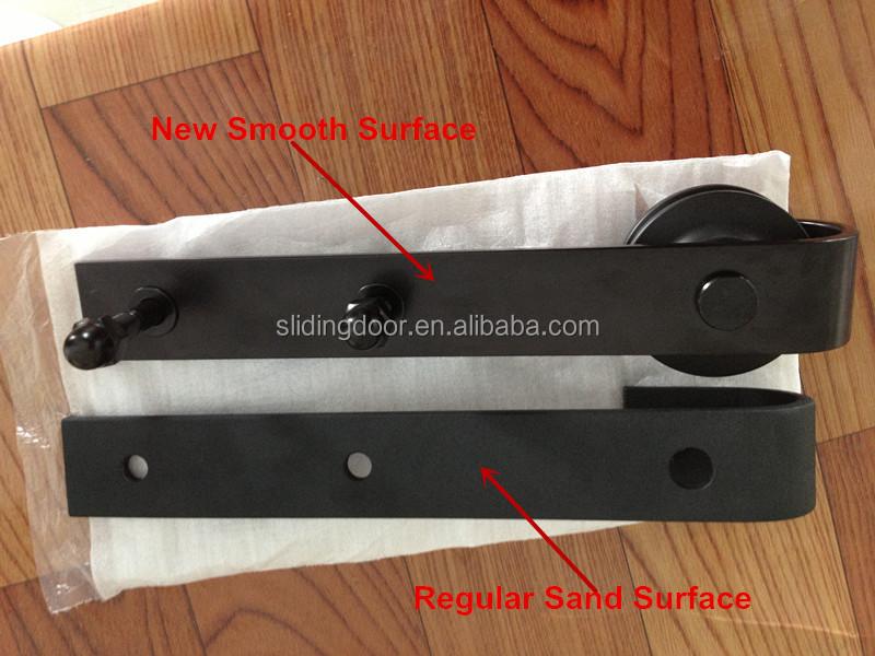 Noir plat porte coulissante rail de guidage pour kit de - Rail pour porte de grange coulissante ...