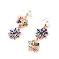 Dress Accessories Dazzling Mixed Color Crystal Fashion Earrings Wholesale