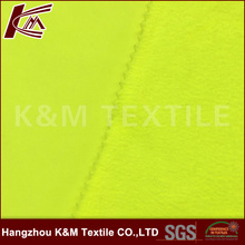 China supplier softshell fabric100D spun poly fluore yellow with 100D fluore micro fleece for functional garments