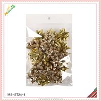 Metallic Gold Mini Star Confetti Bows Christmas Gift Wrap Bows