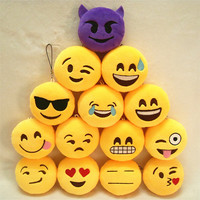 Popular Stuffed Plush Soft Toy Key Chains Yellow emoji keychain