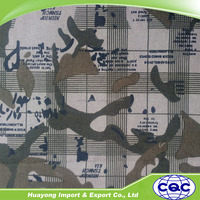 wholesale polyester / cotton cheap camouflage fabric for work cloth