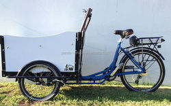 2015 hot sell three wheel 26 inch electric bike / cargo trike bakfiet/front cargo bike for children