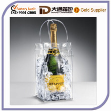 clear PVC wine cooler bag with handle