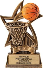 Basketball Sweeping Star Trophy Sports Trophy