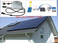 CE, TUV, VDE certificated dc to ac frequency micro solar inverter NEP