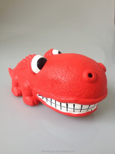 Wholesale Little Dinosaur Latex Toy Squeaky Natural Pet
