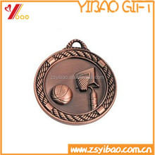Round shape Antique/ Misty plated 3D Medals for Souvenir,basketball sport 3d medals