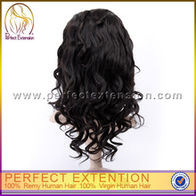 Final Fantasy Cheap Indian Remy Hair Black Loose Curl Lace Wigs