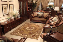 Classical area rugs with pure jacquard