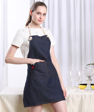 Korean Style Drawing and Painting Apron 100% Cotton Denim Apron Manufacture