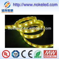 IP20 IP65 IP68 UL listed 12V DC flexible amber flexible 5050 waterproof led strip light