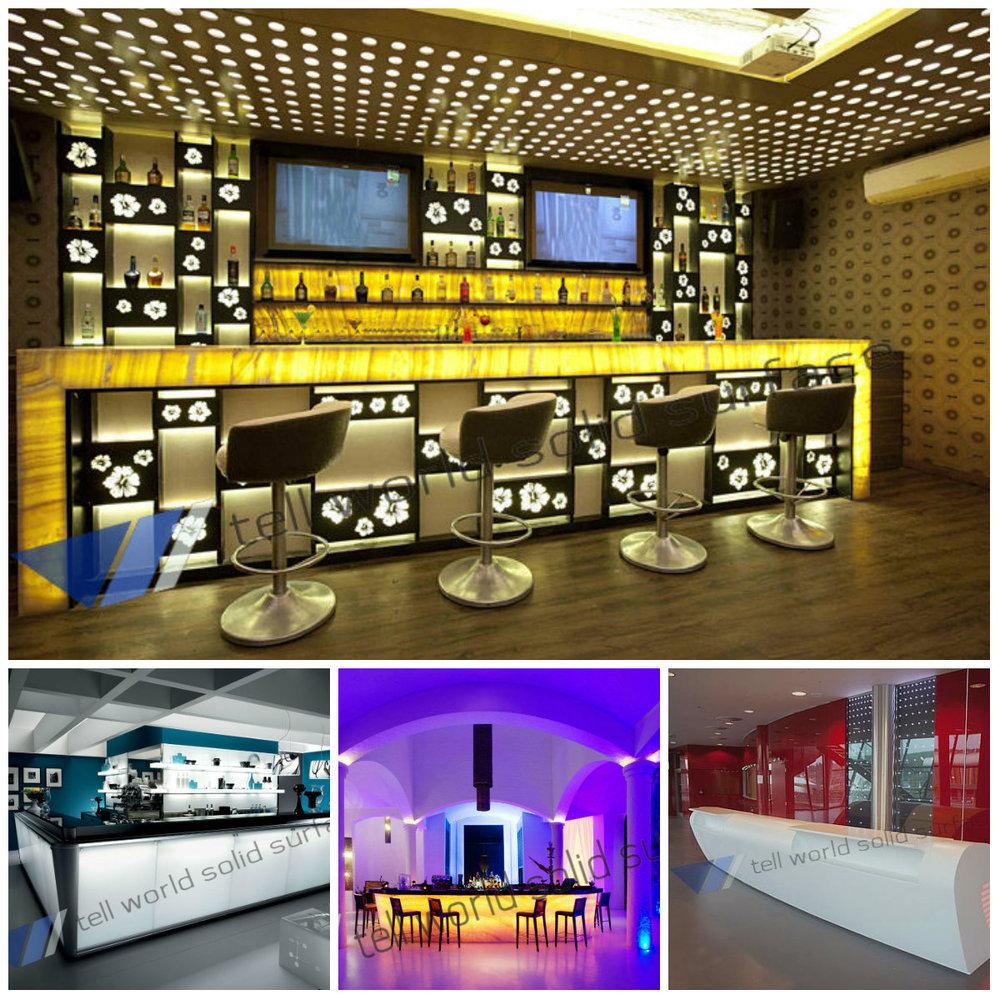 tw caf meubles led comptoir de bar onyx contre jour. Black Bedroom Furniture Sets. Home Design Ideas