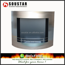 Indoor used electric fireplaces insert wall mounted